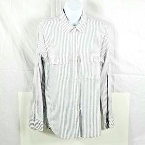Hollister Women's Striped Button Down Shirt